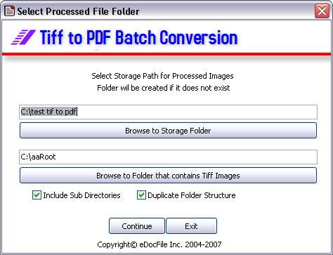 Tiff to PDF